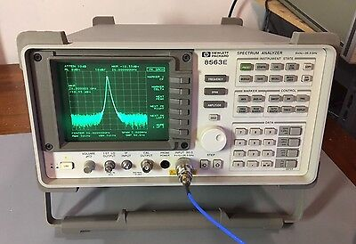 Hp Agilent 8563e 9 Khz - 26.5 Ghz Spectrum Analyzer Calibrated Warranty