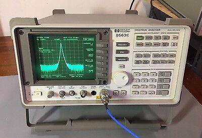 HP Agilent 8563E 9 KHz - 26.5 GHz Spectrum Analyzer CALIBRATED! Warranty