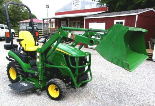 """2014 John Deere 1025R with 54"""" Mower Deck & Loader   --Shipping $1.85  Mile."""
