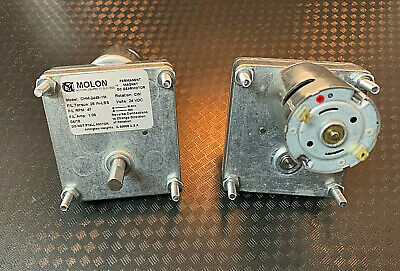 Molon Permanent Magnet Dc Gearmotor. 2-pcs. 924-v Mint Condition.