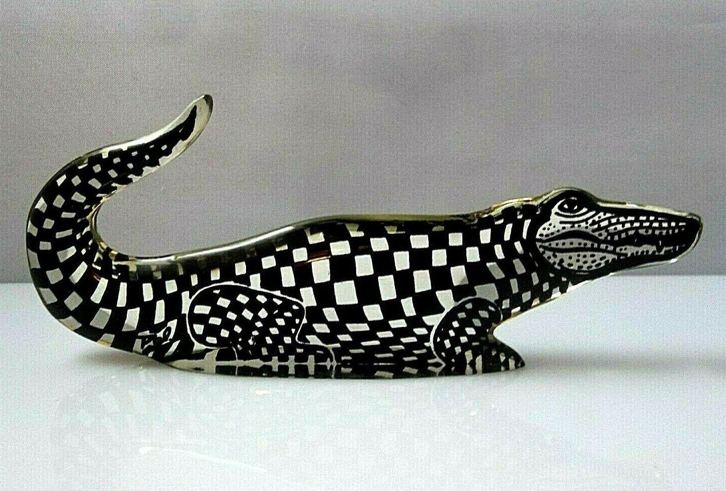 Купить Vintage A. Palatnik Lucite Acrylic Alligator Crocodile Figurine Sculpture 2616