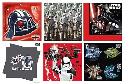 STAR WARS Party LUNCHEON NAPKINS - Tableware Kids Birthday Supplies Disney