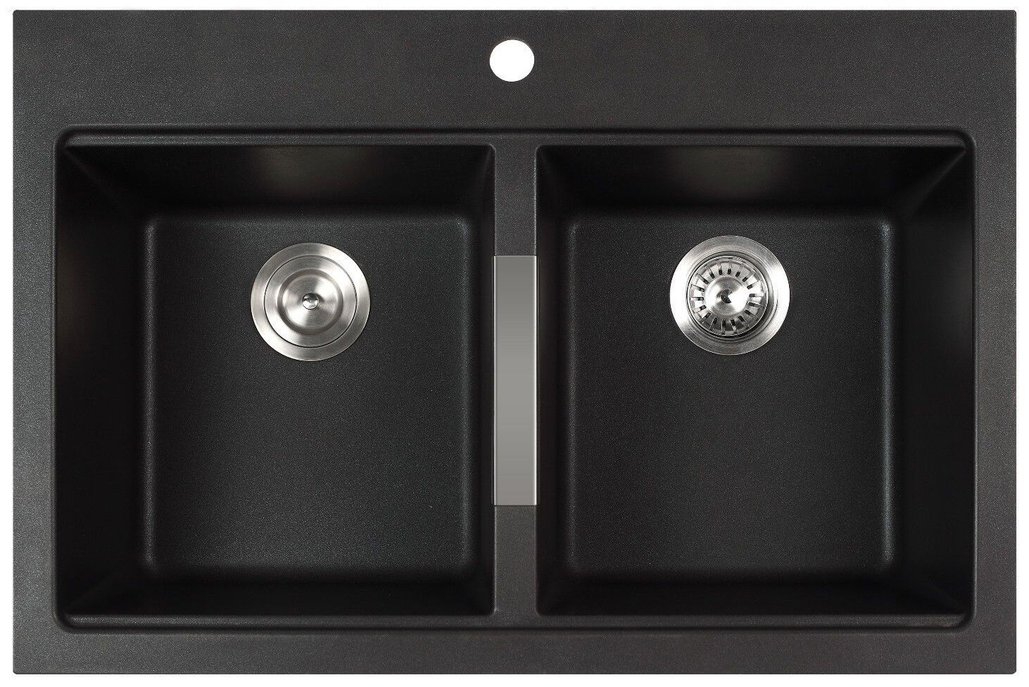 constructed from 80 percent natural granite the kraus kgd433b is a dualmount sink that pairs well with many different types of decor - Kraus Sinks