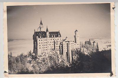 (F18343) Orig. Foto Schloss Neuschwanstein im Winter 1935/36