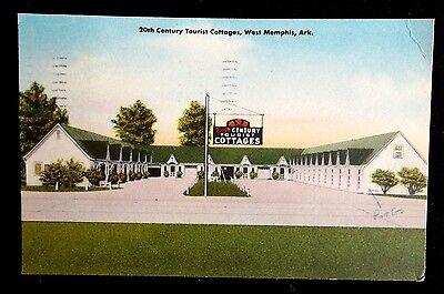 20th Century Tourist Cottages West Memphis Arkansas Vintage Postcard 1950's
