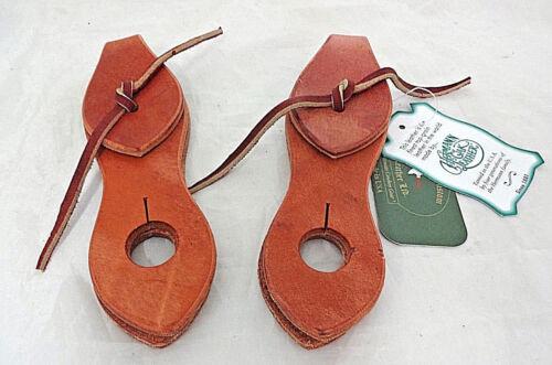 Pair Harness Leather Slobber Straps Ties Berlin Custom Horse Tack Mecate Reins