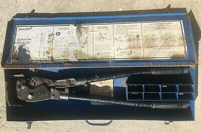 Thomas Betts Tb Aluminum Copper Wire Crimper Crimping Tbm8 With 7 Dies Tbm-8