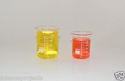 Beaker Set 100 50 Ml Griffin Graduated Borosilicate Glass Beakers New Measuring