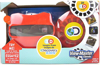 VIEW-MASTER DISCOVERY KIDS Dinosaurs Marine Safari Animals Viewer & 3D Reels Box