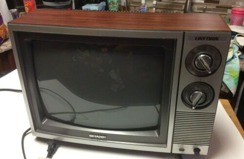 Vintage / antique Sharp Linytron 13 inch television, classic and it works