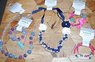 New Carter's LOT OF 2 Necklace & 3 Bracelets Jewelry Accessory child