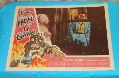 original FROM HELL IT CAME lobby card