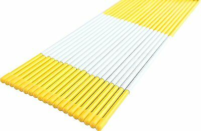 Snow Poles Driveway Markers 360° Reflective Snow Markers  48Inch 20Pack, used for sale  Vista