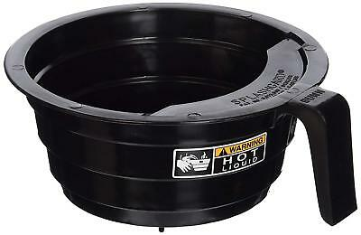 Brewer Funnel - Bunn Replacement Black Plastic Funnel with Decals for 12-Cup Coffee Brewers