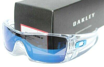 OAKLEY Batwolf Sunglasses Polished Clear/Ice Blue Iridium NEW OO9101-07