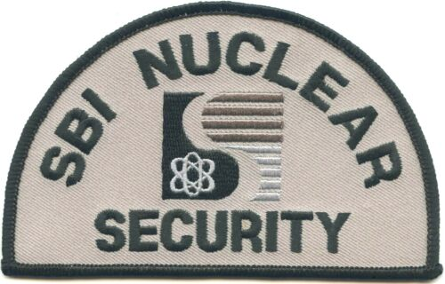 SBI NUCLEAR SECURITY police PATCH