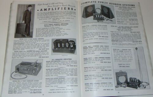 VTG 1936-37 MOVIE THEATER SUPPLY CATALOG! COMPLETE SOUND SYSTEMS/PROJECTORS/B&L!