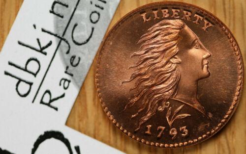 1793 Flowing Hair Cent Fantasy Token - Gallery Mint Museum GMM - Gem BU