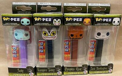 Funko Pop Pez Set of 4 Nightmare before Christmas Disney Jack Sally Skellington