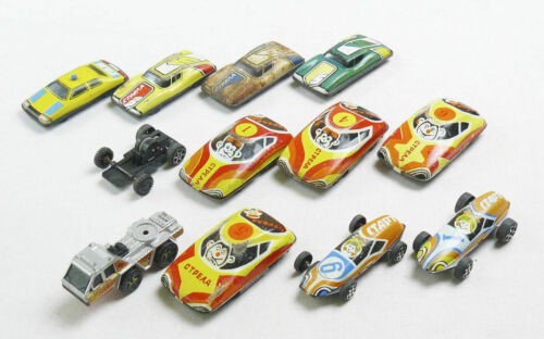 Vintage Soviet Russian Set Tin Baby Racing Cars 10 PCS USSR