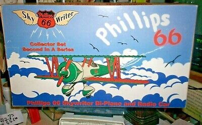 Phillips 66 Skywriter Bi-Plane Air Radio Car LIMITED EDITION 4276 MINT IN BOX