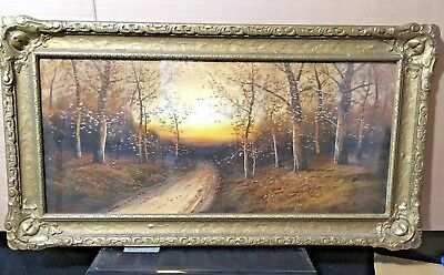Beautiful Pastel Under Glass, Winter Forest Landscape,Country Road early (Country Road Glasses Frames)