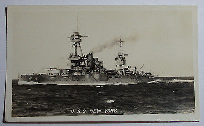 1923 REAL ORIGINAL PHOTO NAVY OF THE U S S NEW YORK