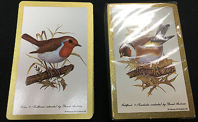 2 Sets of Bridge Playing Card Decks Robin & Goldfinch David Andrews Made in USA