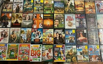 DVD lot New John Wayne For Greater Glory Veggie Tales Bruce Lee Consumed Blitz