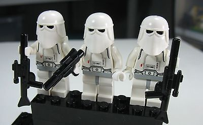 2020 LEGO Star Wars Lot Set of 3 Snow Trooper Army minifigs 7749 8084 Christmas