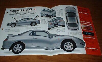 2001 Mitsubishi Diamante Specs (★★1997 MITSUBISHI FTO MIVEC GPX ORIGINAL IMP BROCHURE SPECS INFO)