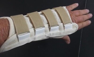 (Wrist And Hand Splint 8 Inch Extra Small Left Hand With Removable Stiffener )