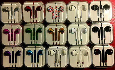 Colour Headphones Earphones For EarPods With Mic HTC Sony Samsung S 6 p&p