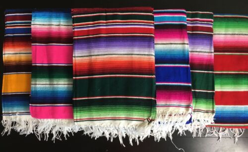 LARGE Mexican Sarape Saltillo Serapes Blanket Bed Cover 5