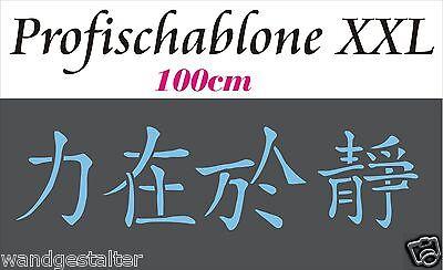 Wandschablone@Schriftzug@IN DER RUHE LIEGT KRAFT -100cm