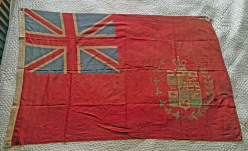 Rare Canadian 1870 Red Ensign 5 Province Flag
