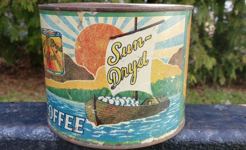 vtg advertising sun-dryd coffee canada tin