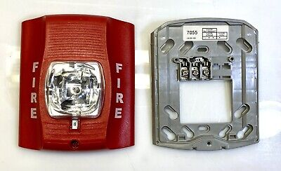 System Sensor Sr Strobe Only Fire Alarm With Correct Mounting Plate Excellent
