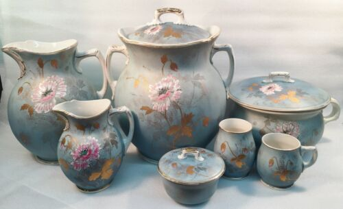 Seven-Piece Porcelain Chamber Set c. 1884-1900