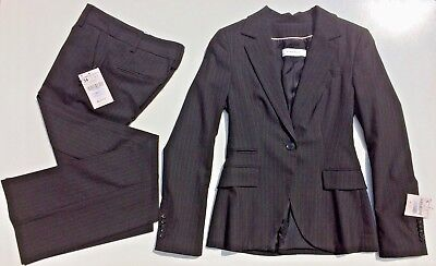 (Zara Ladies Suit Black Single Breasted Jacket Size S Small and pants size 2 / 34)