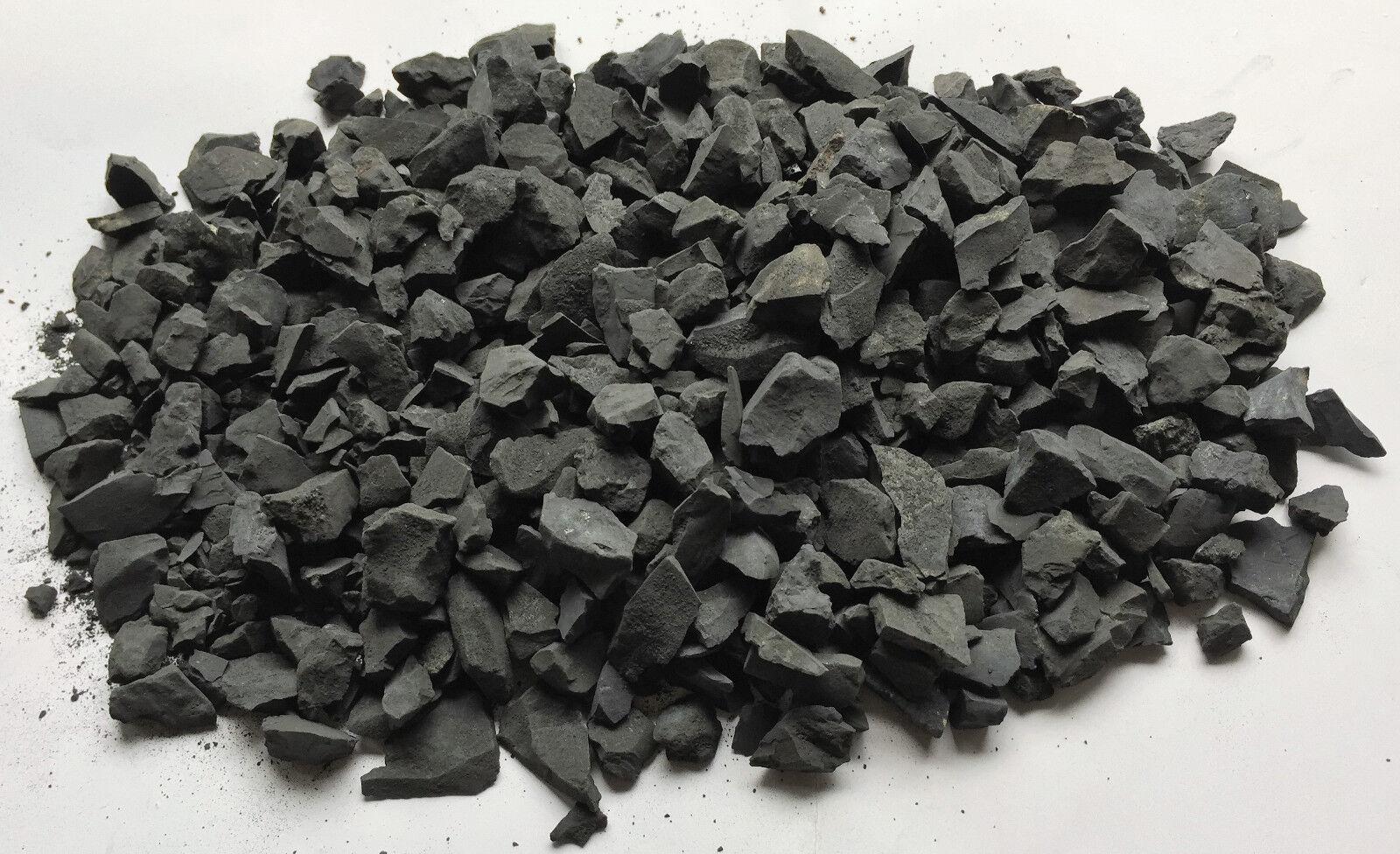 1 KG SCHUNGIT (SHUNGIT)-XS-ROHSTEINE-MINERALIEN-EDELSTEINE-WASSERSTEINE 1-2 cm