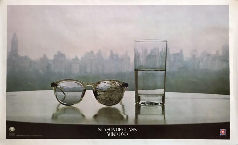 "YOKO ONO SEASON OF GLASS PROMO P0STER 1981 GEFFEN RECORDS.  23""X35"" . NEAR MINT"