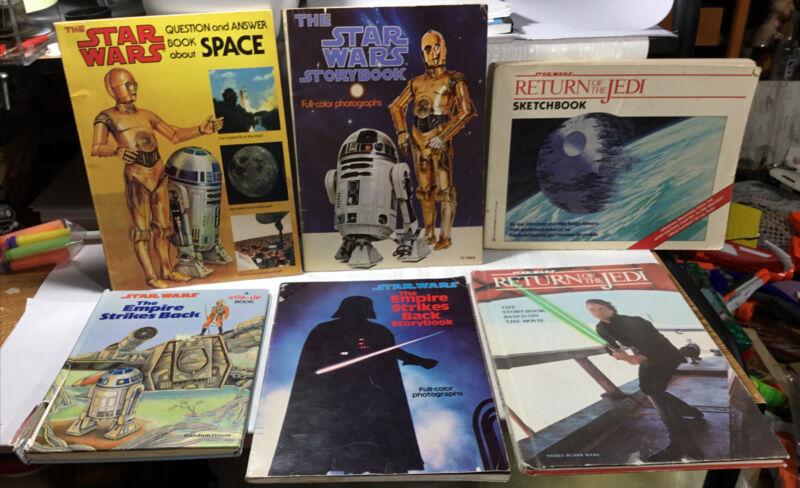 Vintage Star Wars Storybooks Lot Of 6 1970's & 1980's 2 Hardcover