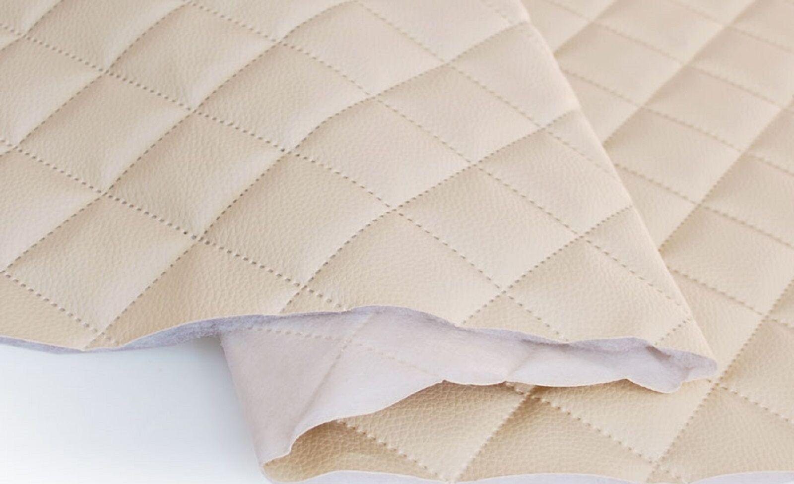 simili cuir piqu s beige tissu ameublement vendu au m tre. Black Bedroom Furniture Sets. Home Design Ideas
