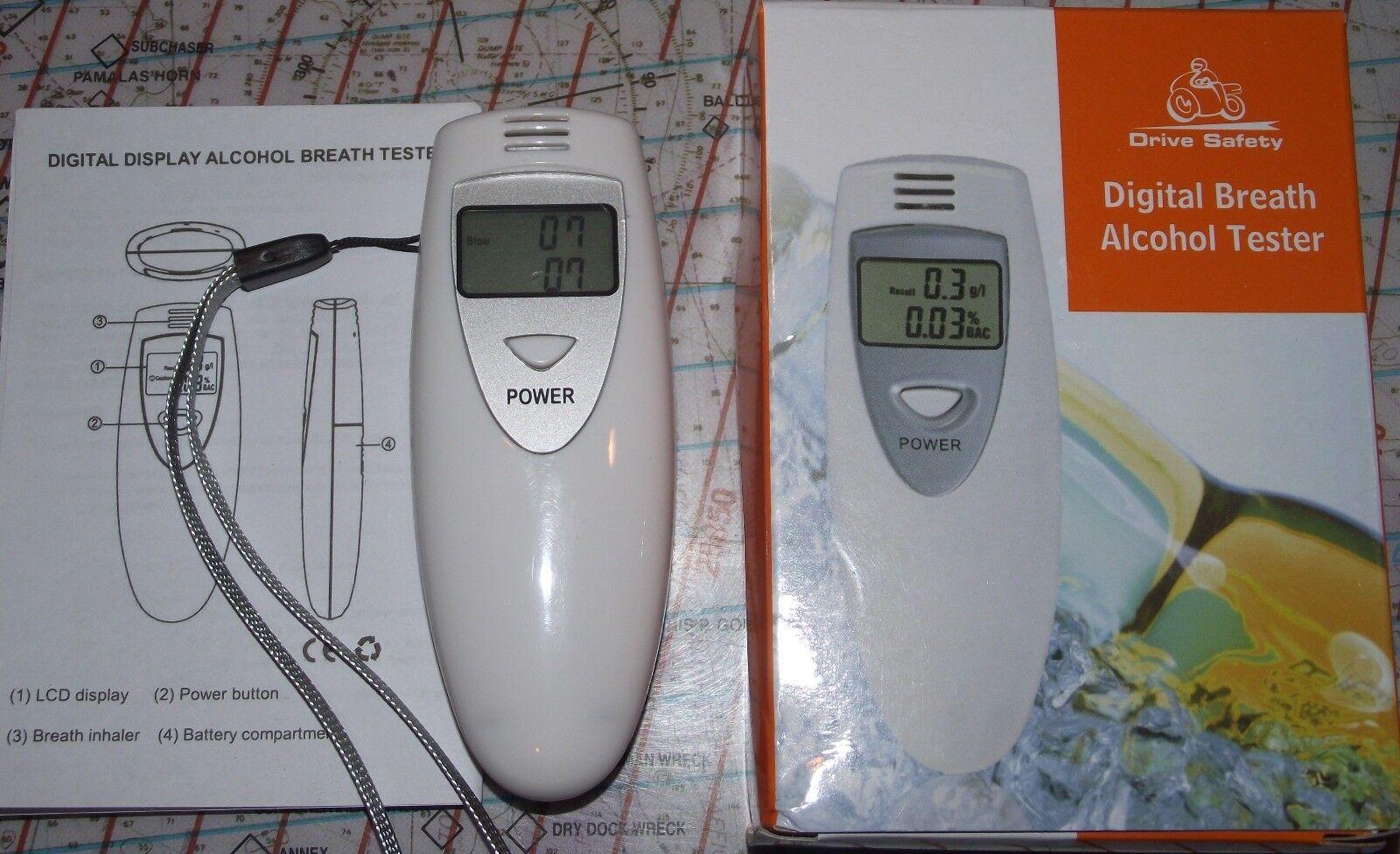 DIGITAL ALCOHOL BREATH TESTER - BREATHALYZER - ALCOHOL DETECTOR - LCD DISPLAY