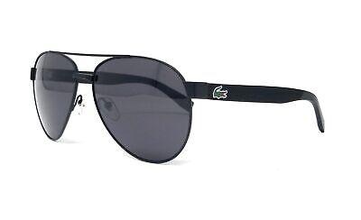 LACOSTE Sunglasses L185S 001 Black Matte Aviator (Lacoste Aviators)