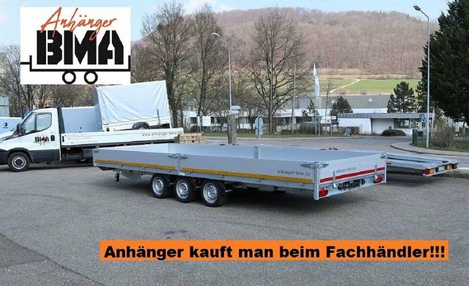EDUARD Anhänger Hochlader Tridem 606x220x30 3500kg NEU Aluminium in Tannheim