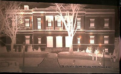 Original 1940's Real Photo Negative Lee County Courthouse Marianna AR n11