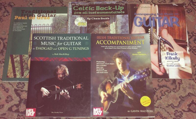 Lot: 5 Irish/Scottish/Celtic Traditional Folk Guitar Songbooks/Music Books