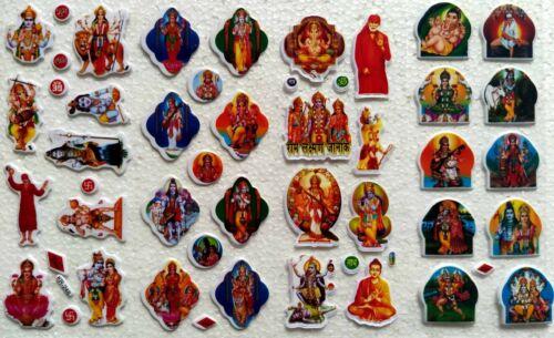 Set of 38 Different Religious Stickers of God Ganesha Shankar Hanuman Lakshmi